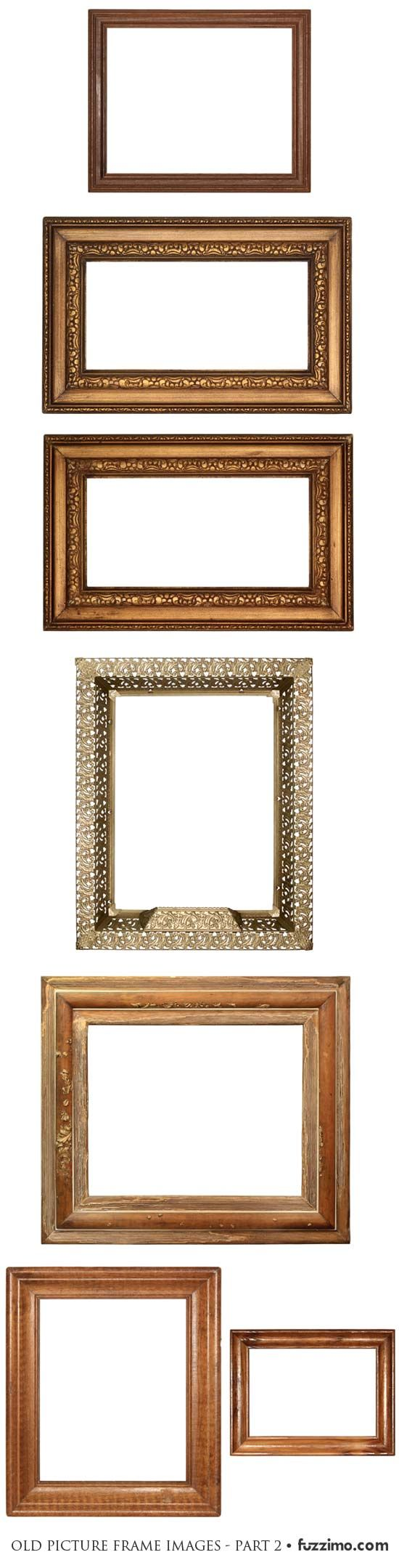 old picture frames: Old Picture Frame, Miniature Frames