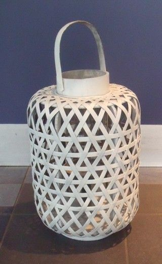 These white bamboo hanging lanterns make a perfect extra addition to your decor!