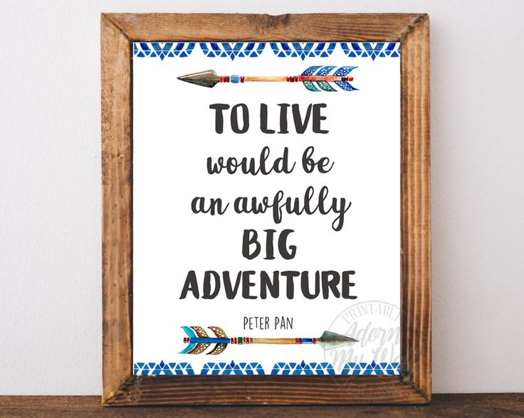 To live would be an awfully big adventure print, Peter Pan Quote,  Nursery Decor, J M Barrie Quote, Printable Wall Art, Instant Download by AdornMyWall on Etsy