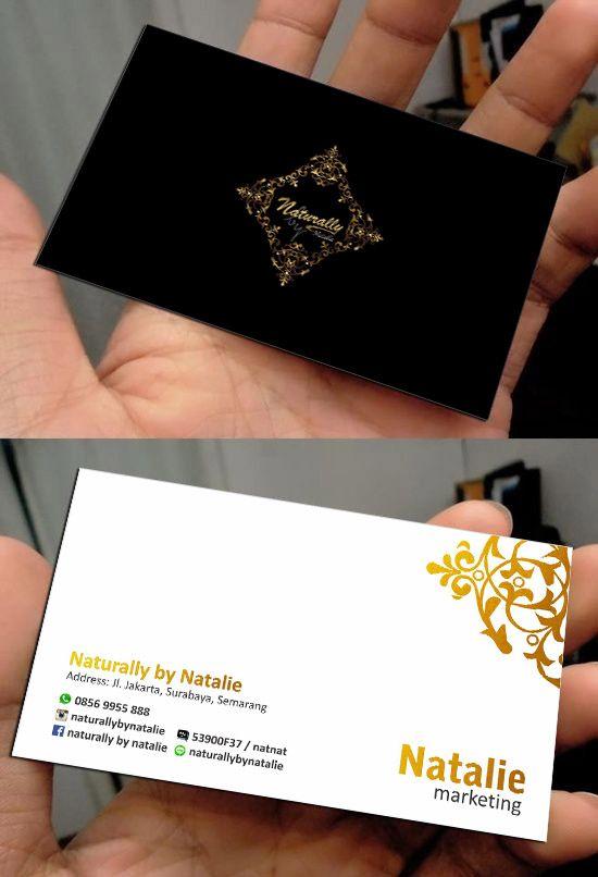 """Card for natalie """"facial company"""""""