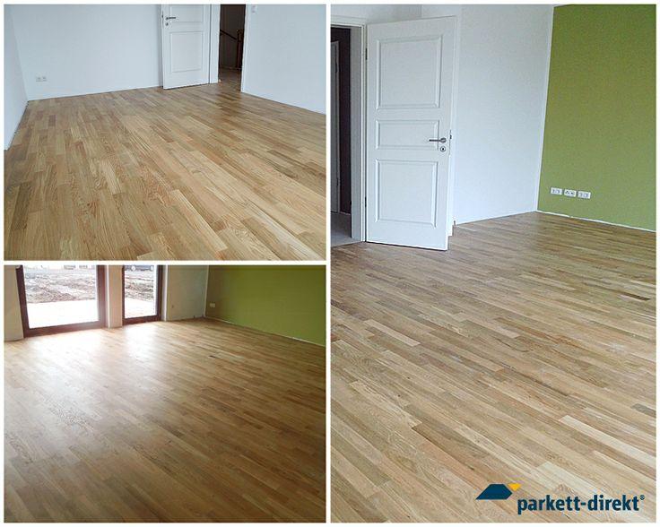 Bilder unserer zufriedenen Kunden. Fertigparkett Eiche Einzelstab lackiert rustikal.  www.parkett-direkt.net   #Parkett #Parkettboden #Eiche #floorings #oak #interieur