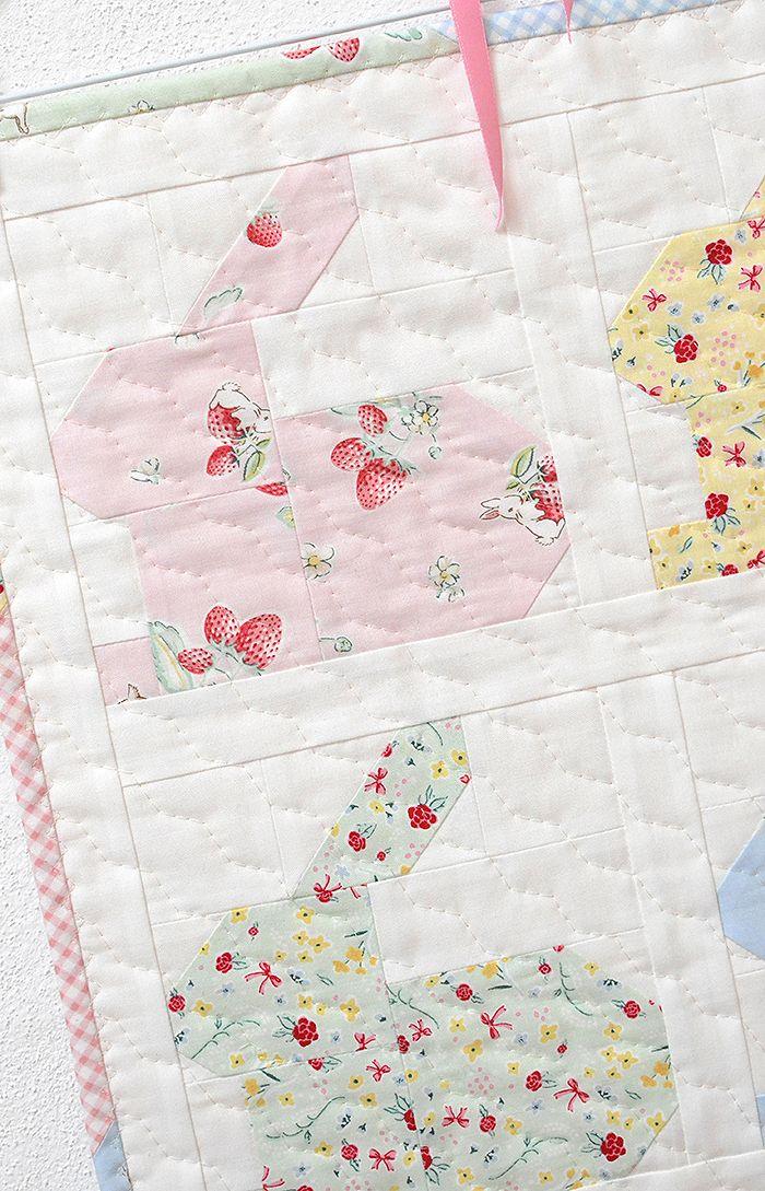 Hippity Hoppity Mini Quilt Pattern by Nadra Ridgeway of ellis & higgs
