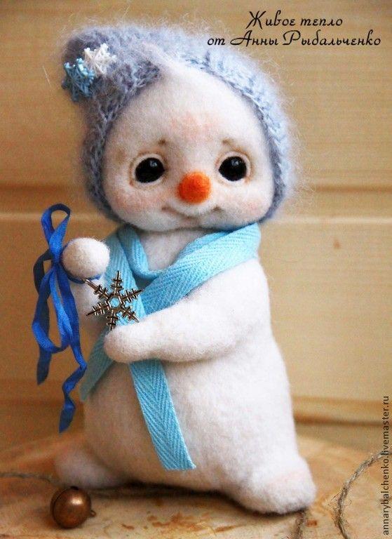 Купить Снеговишка - белый, снеговик, Снег, снеговичок, снеговики, снеговички, новый год 2015