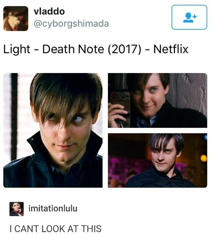 Netflix Death Note XDDD//// ok so in the anime and manga I had to admit that despite his misconception of justice and all the crap he did he is kinda good looking and smart but guys. I would have no regrets for slapping this one with a table like NO. Regrets. Idk man it makes me cringe. Hollywood wyd.