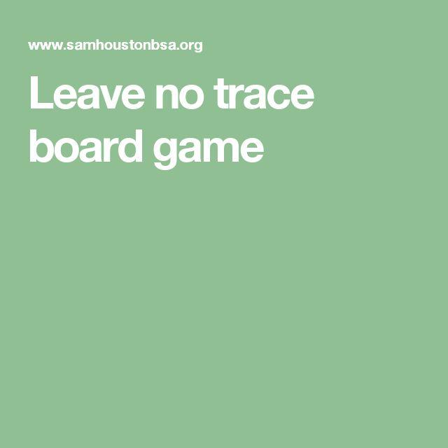 Leave no trace board game