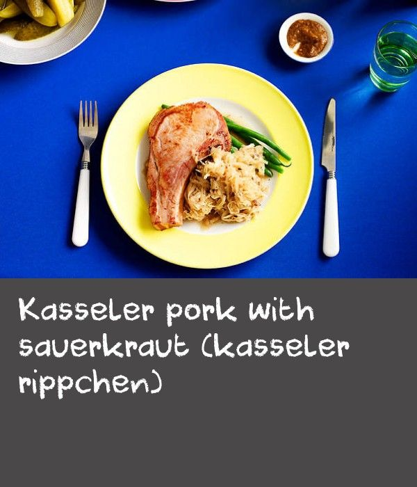 Kasseler pork with sauerkraut (kasseler rippchen)   Kasseler is the name given to any pork cut that has been smoked, then ripened in a salt brine solution. The preserving nature of the smoking and brining means the pork only needs quick cooking to heat it through. This German recipe provides a tasty new way to cook with pork.