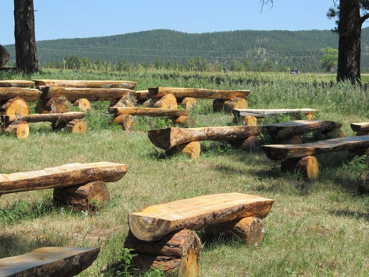 Tree Log Benches Want To Make These For Around My