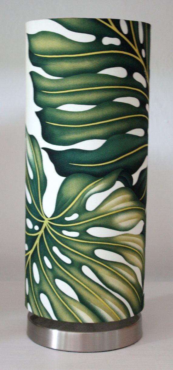 tropical table lamp monstera leaf by homeworksdesignstore on Etsy