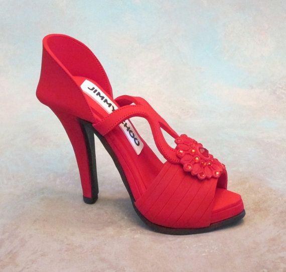 Fondant /gumpaste shoe cake topper