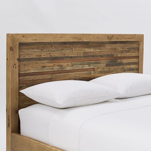 Bay Reclaimed Pine Bed - Rustic Natural #westelm
