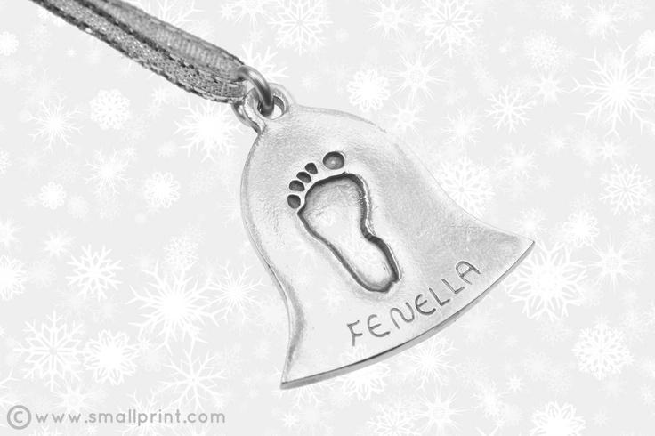 Little Kicker on large bell shape Christmas decoration by Smallprint. www.smallprint.co.za