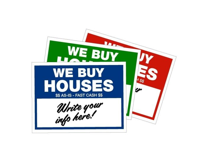 For Only 25 Anthonyvanv Will Design A Yard Sign For You I Will Provide You With Vector Artwork For Your Yard In 2020 Sign Writing Book Design Layout We Buy Houses