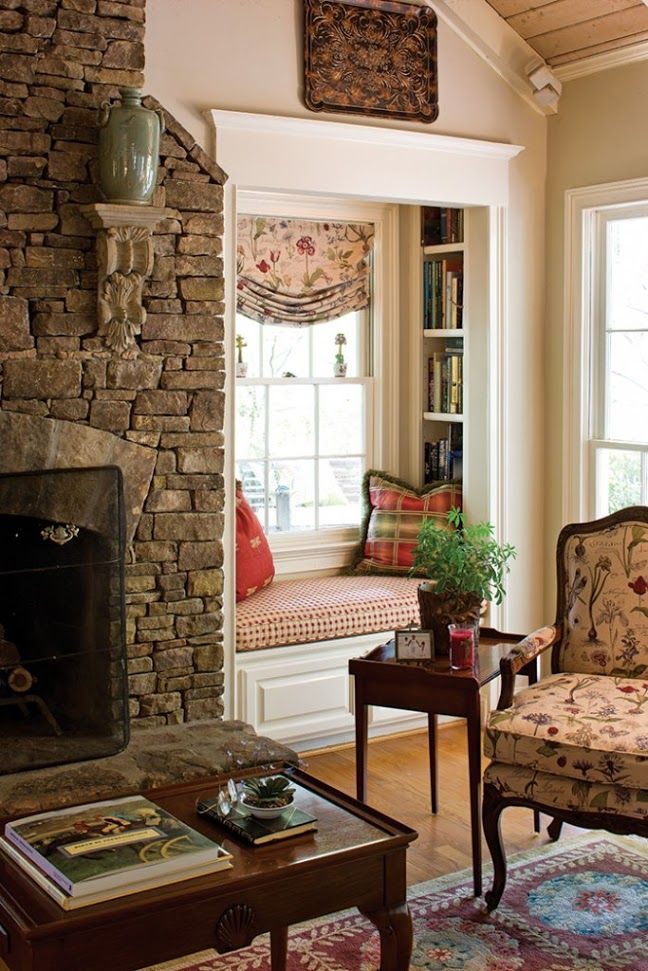 Reading nook, so cozy, luv it!