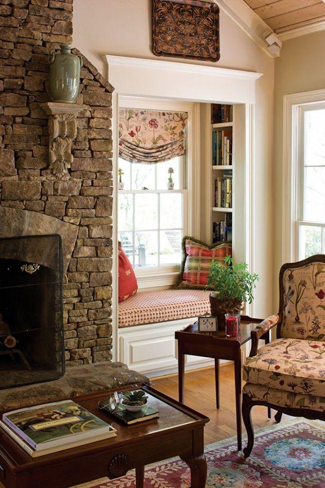 Reading nook, so cozy, luv it!