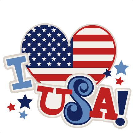 I Heart USA Title SVG scrapbook cut file cute clipart ...