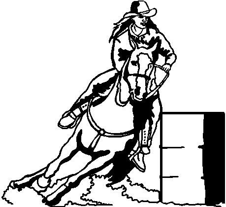 Barrel Racer Clip Art Free Racing Vinyl Cut