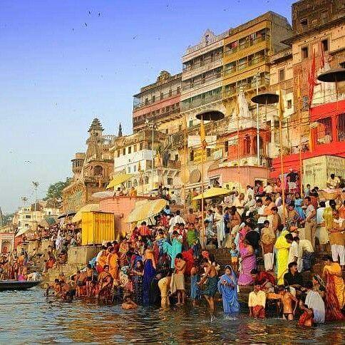 The Ganges is the Most Sacred River of India!  Do you wish to free yourself from all the sins? Take a bath / dip in this holy river.  #India #holyrivers #SacredRivers #rivers #ganga #saraswati #yamuna #narmada #godavari #travel #trip #usa #tour #yolo #UCLA