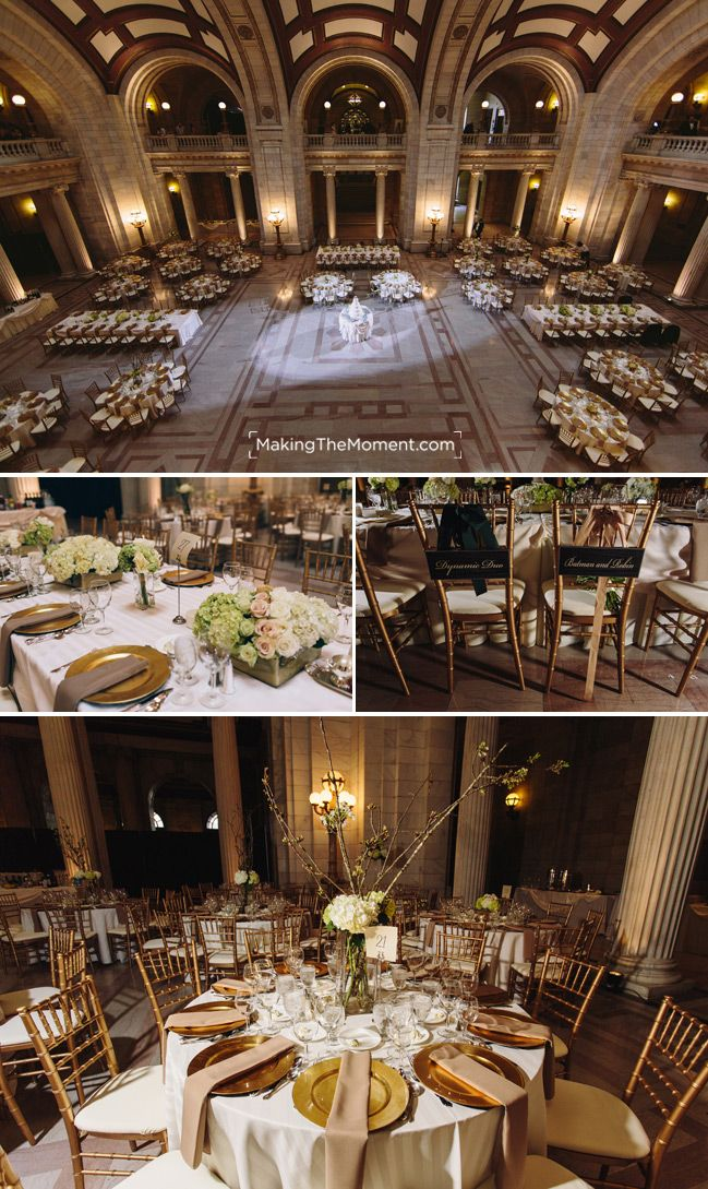 Jenn and John had an absolute beautiful ceremony at the the Old Courthouse in downtown Cleveland. Their tables and overall setup was simply gorgeous.
