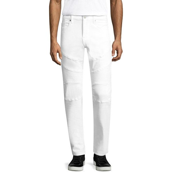 True Religion Men's GENO MOTO SE - Size 29 ($119) ❤ liked on Polyvore featuring men's fashion, men's clothing, no color, men's apparel and mens clothing