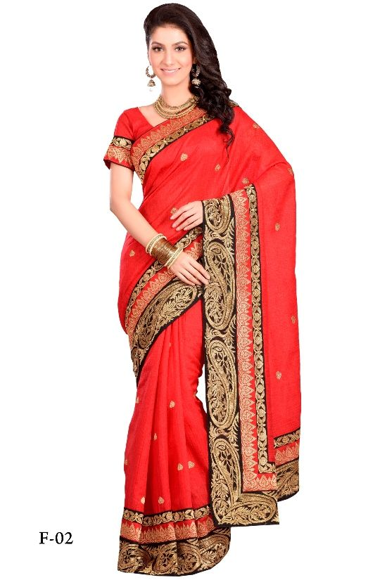 This season #laethnic is presenting soft silk #saree in fabulous #red colour which is designed by bridal patch and zari work. All over saree is decorated by fine zari buti which is giving a traditional look. It can be a choice of wedding #season. This outfit will develop your look from beautiful to angelic. Buy Now