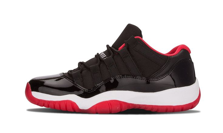"""Boys' Nike Air Jordan 11 Retro Low BG - 528896 012 The famous """"Bred""""? colorway of the Air Jordan 11 in the shoe's low-top form. This colorway was Read more http://shopkids.ca/boys-nike-air-jordan-11-retro-low-bg-528896-012/"""