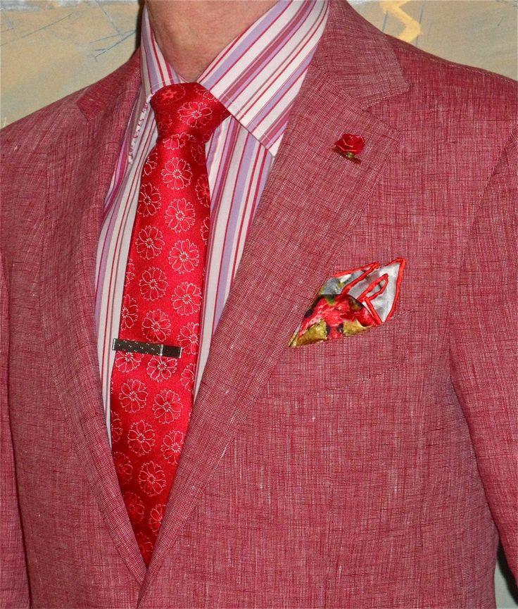 Suitsupply Havana red linen suit, Haight & Ashbury tie, Hugo Boss shirt… #Suitsupply #Haight&Ashbury #HugoBoss #menstyle #menswear #menscouture #mensfashion #instafashion #fashion #hautecouture #sartorial #sprezzatura #style #dapper #dapperstyle #pocketsquare