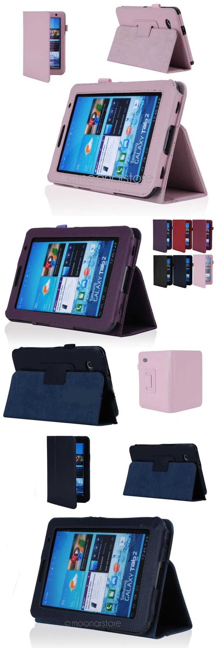 "[Visit to Buy] 2017 Folio For Samsung Galaxy Tab 2  PU Leather Stand Case Cover With Stylus Pen And Screen Protector 7"" Tablet P3100 #Advertisement"