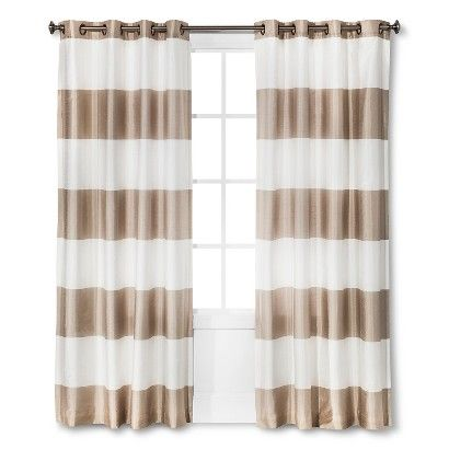 The Modern And Fresh Threshold Bold Stripe Curtain Panel Is Sure To Become Your Newest Obsession This Gorgeous Features Top Grommets For A