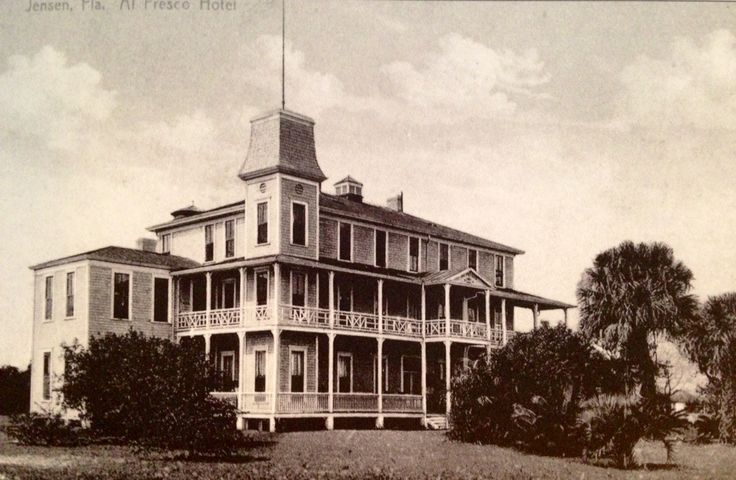 The Al Fresco hotel in Jensen, Florida in the late 1800s.