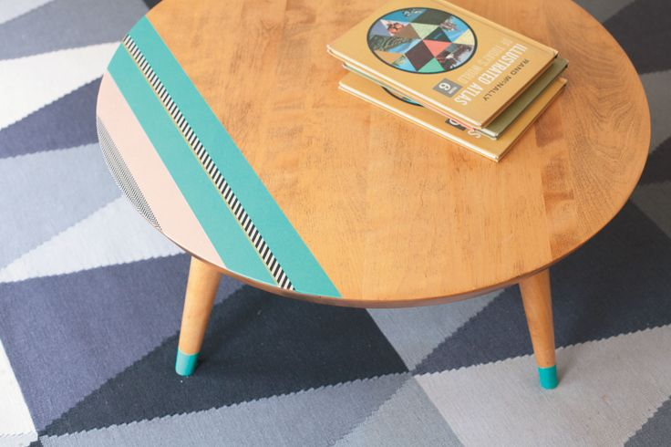 Pimp up a coffee table with pastel coloured washi tape.