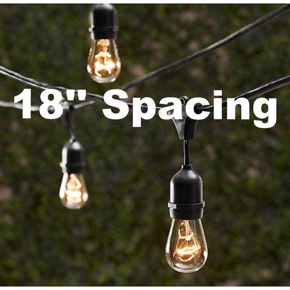 Vintage Patio String Lights w/ Clear Glass by LeeDisplaywest