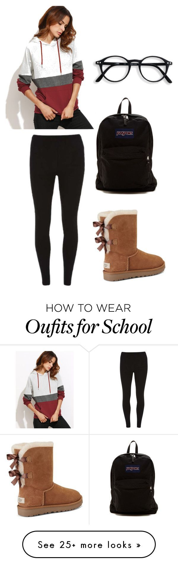 """Comfy school outfit"" by tatis-vanoy on Polyvore featuring UGG, Dorothy Perkins and JanSport"
