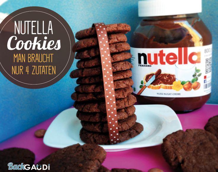 Nutella Cookies (man braucht nur 4 Zutaten) – BackGAUDI