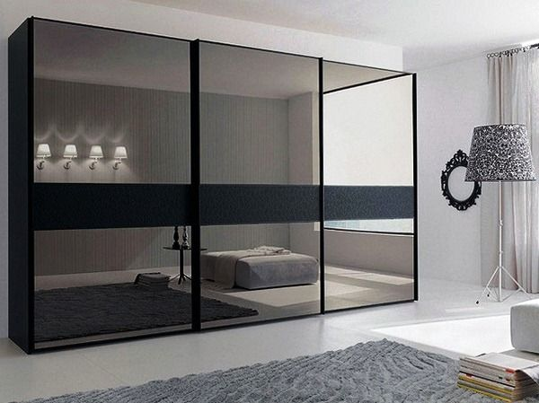 different take on mirrored wardrobes