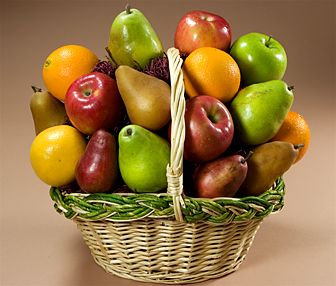 Tropical Fruit Basket  (Fresh Fruits Hamper)  A fruit basket containing fruits such as apples, oranges,pears and kiwi Fruit.(8 kgs best quality assorted Tropical fruits)