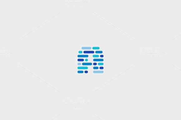 Dynamic, code, blocks, letter A logo by iamguru on Creative Market