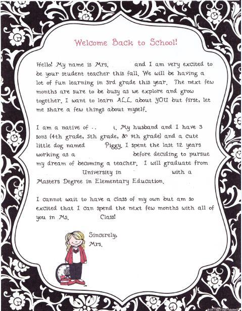 25+ best ideas about Teacher introduction letter on Pinterest ...