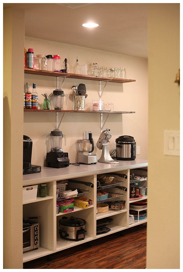open kitchen pantry shelving design ideas | Adding Open Shelving in the Pantry | Open shelf kitchen ...