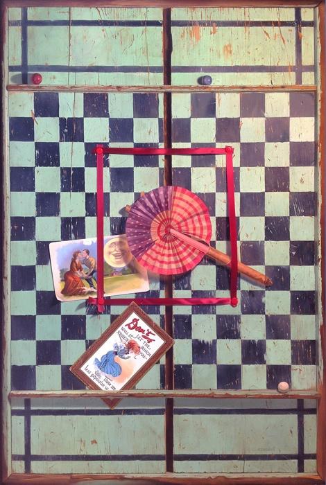 Robert E. Zappalorti, Red, White & Blue, 2012, oil on panel, 28 7/8 X 19 3/8 inches