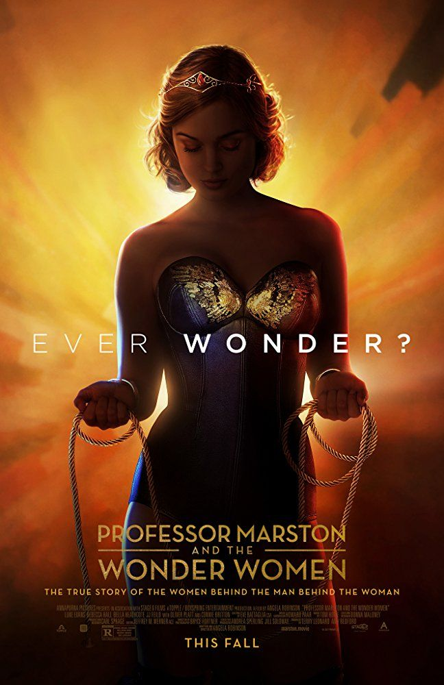 "Starring Bella Heathcote, Rebecca Hall, Luke Evans | The true story of William Moulton Marston, the polyamorous relationship between his wife and mistress, the creation of his beloved comic book character ""Wonder Woman"", and the controversy the comic generated in its earlier years."