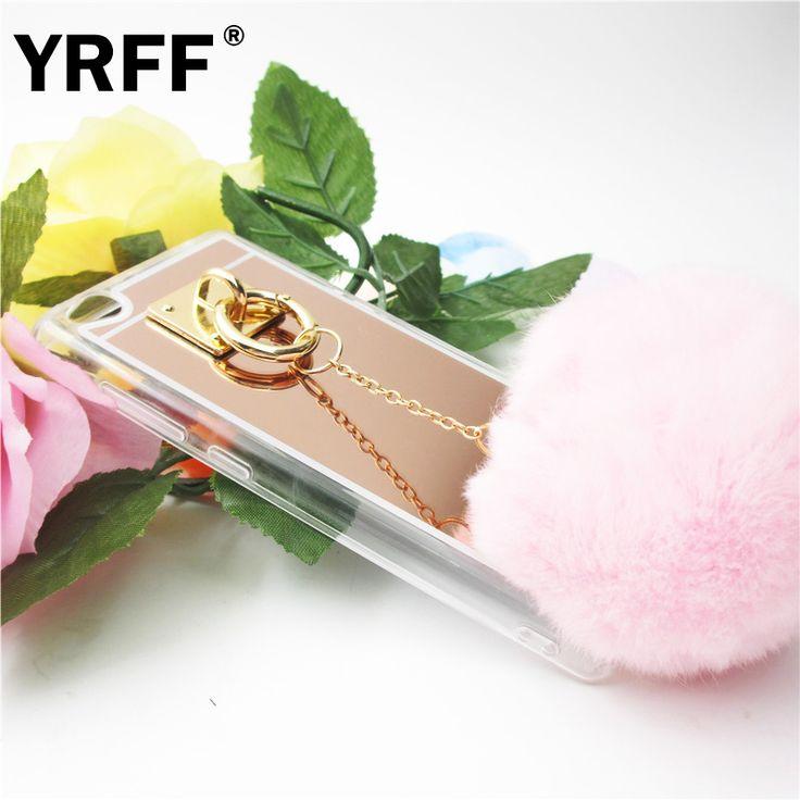 Capa Para for xiaomi mi5/mi4/redmi 2/redmi 3/redmi note 2/redmi note 3/for xiaomi note Case Fur Ball Tassels Mirror Phone cover