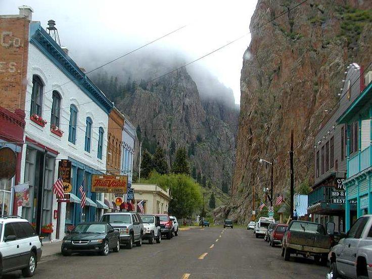 Looking north on Main Street in Creede, Colorado.