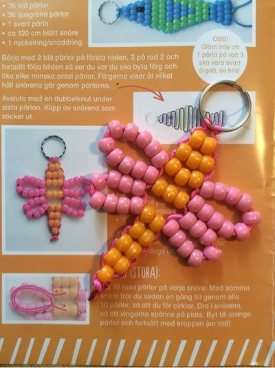 Butterfly pony beads keychain - Frida in Wonderland