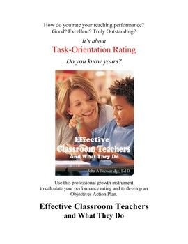 "This free document is offered to give teachers some information and insight into the professional growth instrument ""Effective Classroom Teachers and What They Do"" Self evaluation is an important part of professional growth. This summary explains the history and rationale of a highly successful program that has been used by thousands of North American teachers.."
