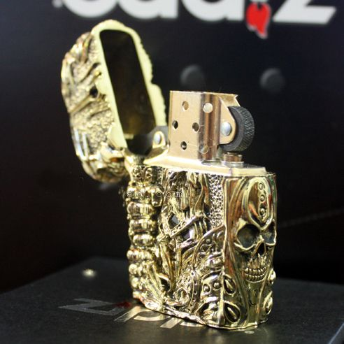 Japanese Handcraft Master Solid Brass Lich King Jacket Zippo Lighter