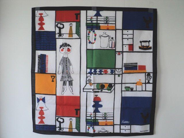 MARIMEKKO Scarf / Fabric Wall Hanging MUKSUNHYLLY design Vuokko Nurmesniemi #Marimekko