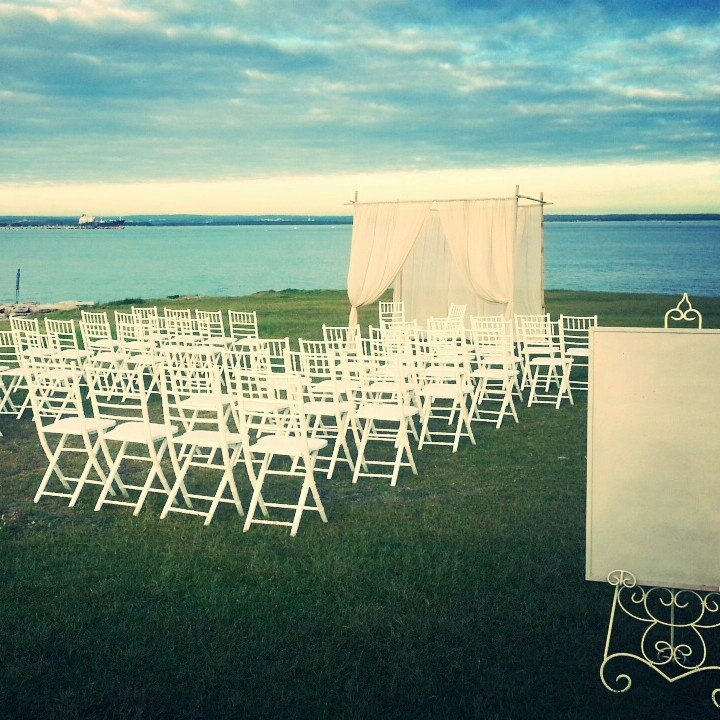 Canopy, easel display & tiffany chairs in La Perouse