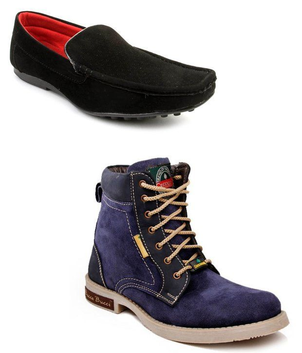 Bacca Bucci Combo Of Stylish Blue Boots and Black Loafers  SELLING PRICE Rs 1399 Shop Us Now :- http://goo.gl/5kZTsu
