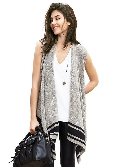 Drapey Open Sweater Vest- I REALLY like how this fits!!!