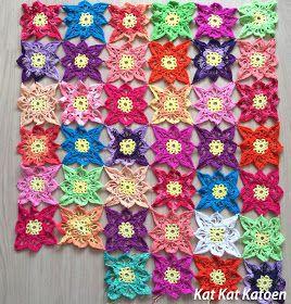 gehaakt tafelkleed, crochet tablecloth, kleurgebruik